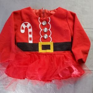 CHRISTMAS DRESS, SIZE 0-3 MONTHS